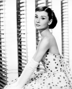 Audrey Hepburn in a gown by Edith Head.