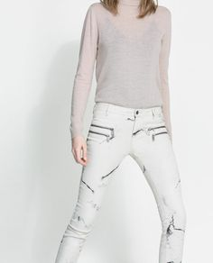 MARBLE EFFECT TROUSERS