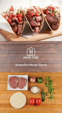 Nestled between the Pacific Ocean and Mexico's Sierra Madre del Sur mountains, Acapulco became a popular tourist destination in the 1950s for Hollywood stars in search of warm breezes and sandy beaches. We capture that resort town vibe with these laid back-but-delicious steak tacos. Tender sirloin steak is the perfect cut for grilling, slicing, and layering inside warm tortillas. They're topped with fresh tomato salsa and crumbly cotija cheese for a fresh and flavor-packed taco. Pour a cold…