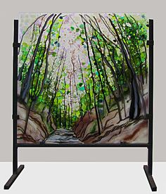 Walkway Through the Trees by Alice Benvie Gebhart: Art Glass Sculpture available at www.artfulhome.com