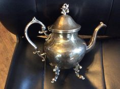Birmingham silver tea pot silver piece silver on copper by EMTWTT