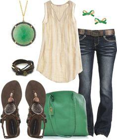 Cream and Green
