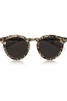 6cf5d66aa33 Illesteva Leonard 2 leopard-print round-frame acetate sunglasses