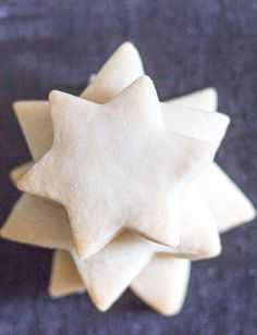 5 star shaped shortbread cookies one on top of each other