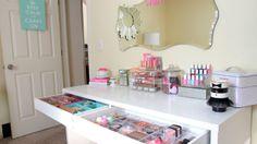 My New Vanity ~ Ikea Micke Desk & Mini Vanity Tour ~ Makeup Storage Ideas