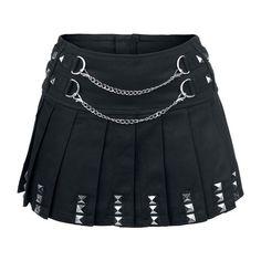 Jawbreaker Punk Skirt Jupe noir ($48) ❤ liked on Polyvore featuring skirts, punk rock skirts and punk skirt