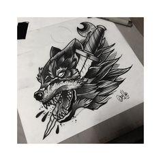 "Polubienia: 87, komentarze: 6 – Davide Capone Tattoo Maker (@davtattoos) na Instagramie: ""Wolf 1.  #sketching #sketch #sketchbook #drawing #tenerife #tenerifeink #tenerifetattoo…"""