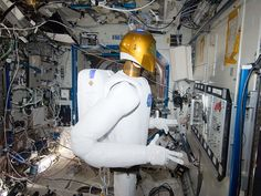 Well, sorta. In the International Space Station's Destiny laboratory, Robonaut 2 is pictured on Jan. 2, during a round of testing for the first humanoid robot in space. Ground teams put Robonaut through its paces as they remotely commanded it to operate valves on a task board.