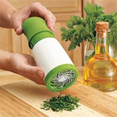 Microplane Herb Mill...love this! I hate chopping herbs!