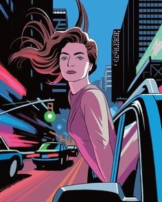 """#Lorde used to play the role of a teen who watched from a balcony. Now she's tiptoeing down into the party, and learning just how messy adulthood can be. Click the link in our bio to read Carrie Battan's review of the artist's new album, """"Melodrama."""" Illustration by @r_kikuo_johnson."""