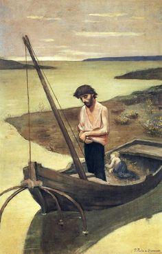 Pierre Puvis de Chavannes (French, 1824-1898). Poor Fisherman, 1881