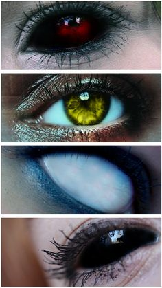 The different demon eyes of Supernatural.