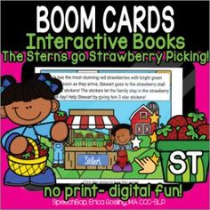 Boom Cards - Speechbop Strawberry Picking, Star Stickers, Help Teaching, Love Reading, How To Stay Motivated, Speech Therapy, Author, Student, Activities