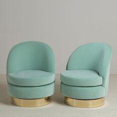 A Standard Pair of Swivel Chairs by Talisman Bespoke