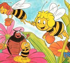 Maya, Maya, es nuestra amiga la abejita, que busca en todas las flores, la sabia miel de la verdad, y asi, nos enseña a vivir...