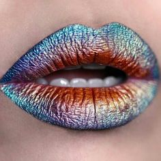 Lip Art, der Make-up-Trend der Lippen - maquillage Makeup Goals, Makeup Inspo, Makeup Art, Makeup Inspiration, Makeup Tips, Beauty Makeup, Makeup Trends, Makeup Ideas, Skull Makeup