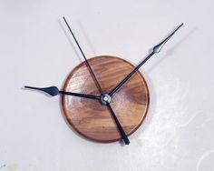 Red Elm Turned Wood Big Hands Wall Clock by WoodArtForLiving, $75.00