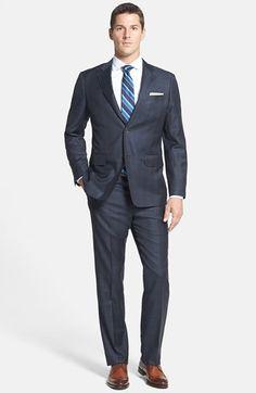 John W. Nordstrom® Classic Fit Plaid Wool Suit Besos c8222dad6af