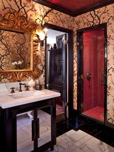 Red Cream Black Gold Design, Pictures, Remodel, Decor and Ideas