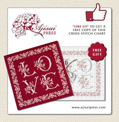 Free cross stitch chart and finishing instructions.