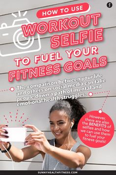 The comparison between your life and others can take people down a path of mental and emotional health struggles. However, there are also benefits of selfies and how you can use them to fuel your fitness goals. Learn how to use selfies to fuel your goals in this article! #sunnyhealthfitness #selfies #workoutselfie #workoutgoals #fitnessgoals #goalsetting Health And Fitness Articles, You Fitness, Fitness Goals, Health And Wellness, Health Fitness, Gym Photos, Mental And Emotional Health, Life Goals, Being Used