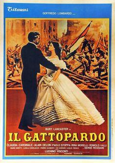 """""""Il gattopardo"""" (1963). Country: Italy. Director: Luchino Visconti. Cast: Burt Lancaster, Claudia Cardinale, Alain Delon, Paolo Stoppa, Rina Morelli, Romolo Valli"""