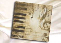 2 Paper Napkins for Decoupage, music,piano keys and music notes 33x33 cm by ArsaiSupplies on Etsy