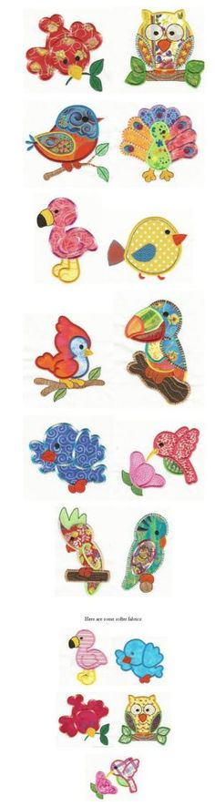 Embroidery | Free machine embroidery designs | Birds of a Feather Applique by Tessa maritz