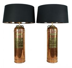 Antique fire extinguisher lamps. I have one and may make it. http://www.knighttechnologies.in