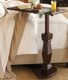 This telescoping table is as convenient as it is beautiful.
