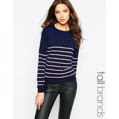 Yoins Ribbed Scoop Neck Jumper (£12) ❤ liked on Polyvore ...