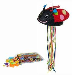 "Ladybug Pull String Pinata Kit - Includes Pinata and 2Lb Filler by Pinatas.com. $32.54. Pinata filler includes approximately 2 pounds of candy and toys, including Laffy Taffy, Smarties, Tootsie Rolls and other brand candy. Caution: not recommended for children under 3 years of age.. Pinata measures approximately 14x11x7.75 quot;. Pinata measures approximately 14x11x7.75"". Pinata filler includes approximately 2 pounds of candy and toys, including Laffy Taffy, Sm..."
