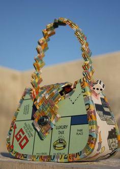 Monopoly Handbag - GREAT upcycling! http://calgary.isgreen.ca/