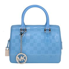 Michael Kors Outlet Checkerboard Logo Small Blue Satchels -Michael Kors factory outlet online sale now up to 72% off!
