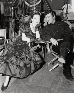 "Judy Garland and Gene Kelly on the set of ""The Pirate"""