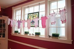 clothesline decor looks nice in front of windows