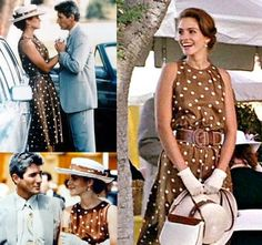 was my favorite dress in this movie lol. my mom has the identical dress but navy instead of brown!