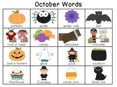 Writing for the Year Word Charts -- a fun new chart of words for every month! Perfect to put in a writing center to encourage & inspire little writers!
