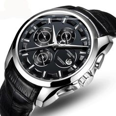 f0e37b88d24 Men Automatic Mechanical Business Watches Leather Strap