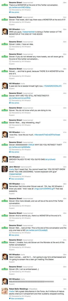 the only acceptable twitter conversation in the history of twitter