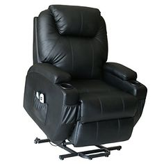 Action Club Deluxe Power Lift Heated Vibrating Massage Recliner Chair With Wheels Black Find