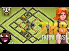 Clash of clans - New Update - Town hall 8 TH8 Farming Base 2016 - TH8 Tr...