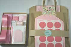 Gift wrap kit in shades of pink