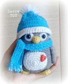 Patrón amigurumi gratis de pingüino abrigadito