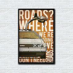 Retour vers le futur poster affiche alternative film classique affiche DeLorean DMC de Poster affiche Marty McFly affiche Dr Emmet Brown Time Machine
