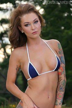 Solid Navy Blue Sexy Micro G String Bikini 2pc by BitsysBikinis