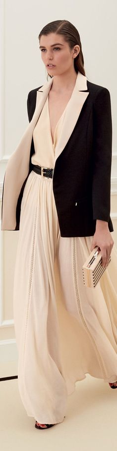 women fashion outfit clothing style apparel @roressclothes closet ideas Elisabetta Franchi 2016