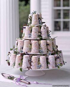 La tarta en esta boda fue de quesos de cabra decoradas con hierbas, Original, Verdad??