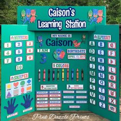 PJ Masks board now available in green! Preschool Boards, Preschool Prep, Preschool At Home, Preschool Curriculum, Preschool Lessons, Daily Schedule Preschool, Daily Schedules, Toddler Schedule, Homeschooling