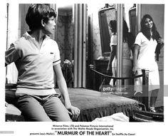 Actor Benoet Ferreux and actress Lea Massari on set of the movie 'Murmur of the Heart' in 1971.